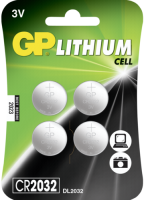 1x4 GP CR2032 Lithium 3V