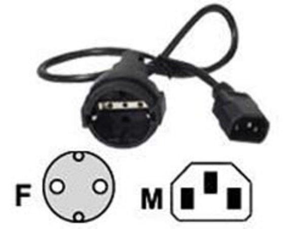 APC 230V-Adapter Kaltgerätestecker auf Schuko Buchse, 10 A